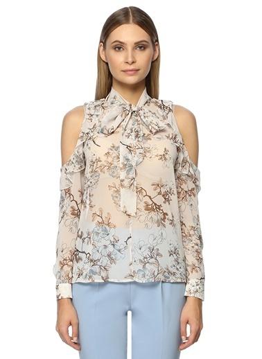 NetWork Kadın 1071742 Regular Fit Desen Bluz Gri